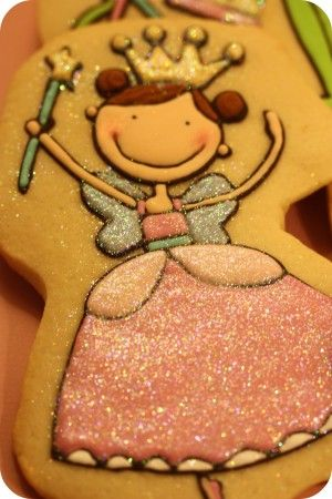 #Princess cookies with edible glitter