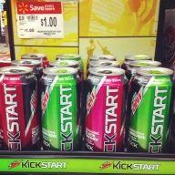 Mountain Dew - Kickstart  Finally, a low calorie energy drink that actually tastes great.