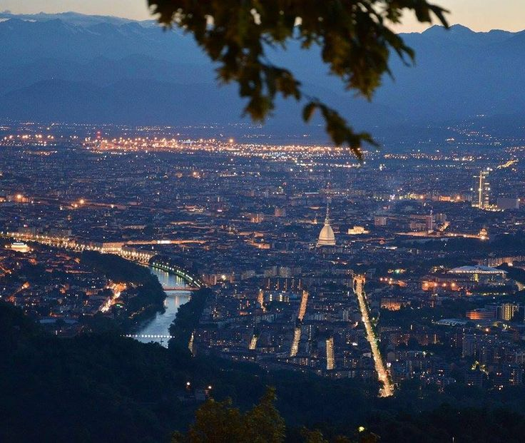 The view of Turin from Basilica di Superego