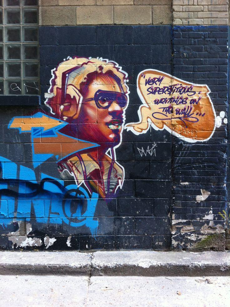 Found this in an alleyway off queen street west, Toronto. Street art. Graffiti art