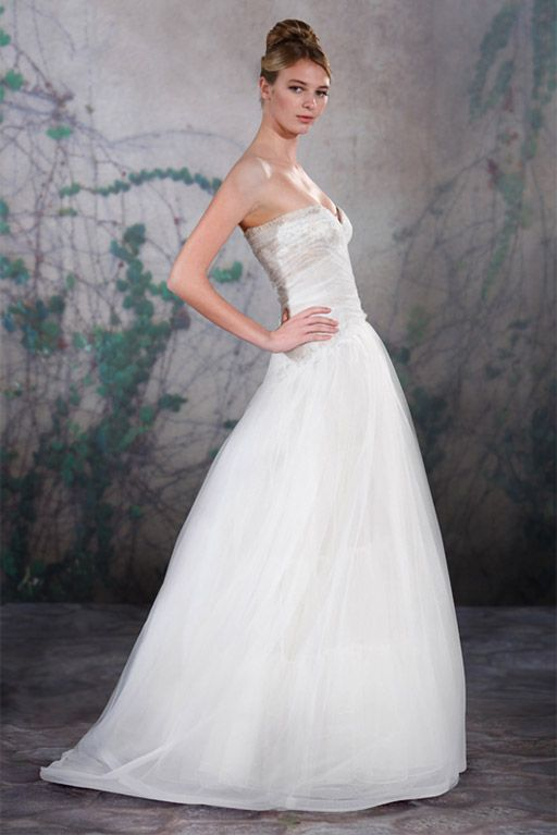 To see more gorgeous wedding dresses from Jenny Lee: http://www.modwedding.com/2014/11/09/editors-pick-stunning-jenny-lee-wedding-dress/ #wedding #weddings #wedding_dress