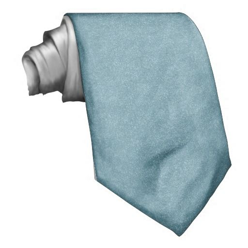PANTONE Aquamarine baby blue with faux Glitter Necktie