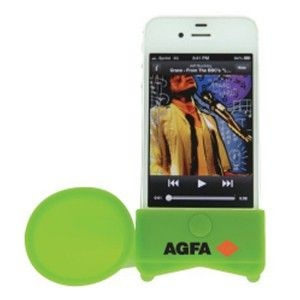 """Suzie's Pick – iPhone Megaphone Speaker """"These are a great idea for an inexpensive giveaway, and it's surprising how much they magnify the sound. Our client handed them out at tradeshows and recruiting events and they were really popular."""" – Suzie Wilson, Promo Product Specialist"""