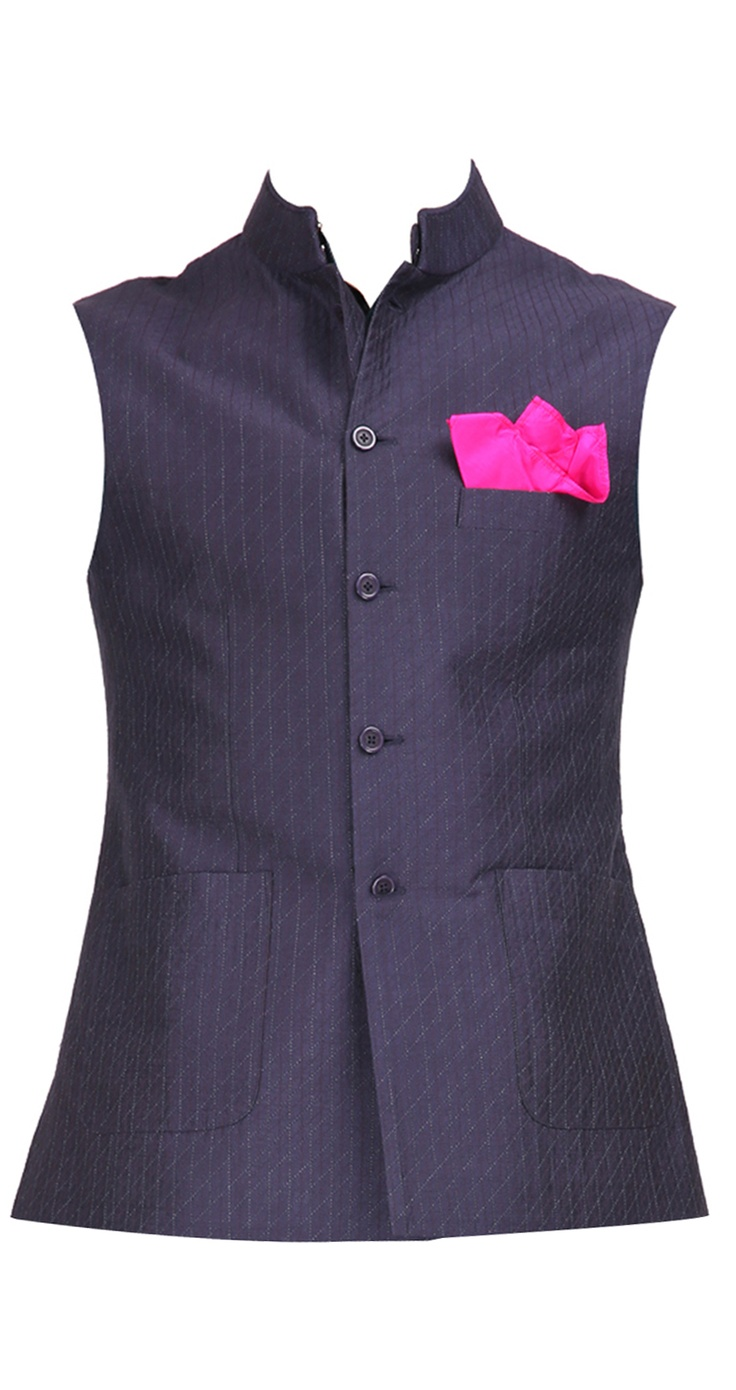 Cotton aubergine waistcoat by RAGHAVENDRA RATHORE. Shop at https://www.perniaspopupshop.com/mens-shop/raghavendra-rathore-3990