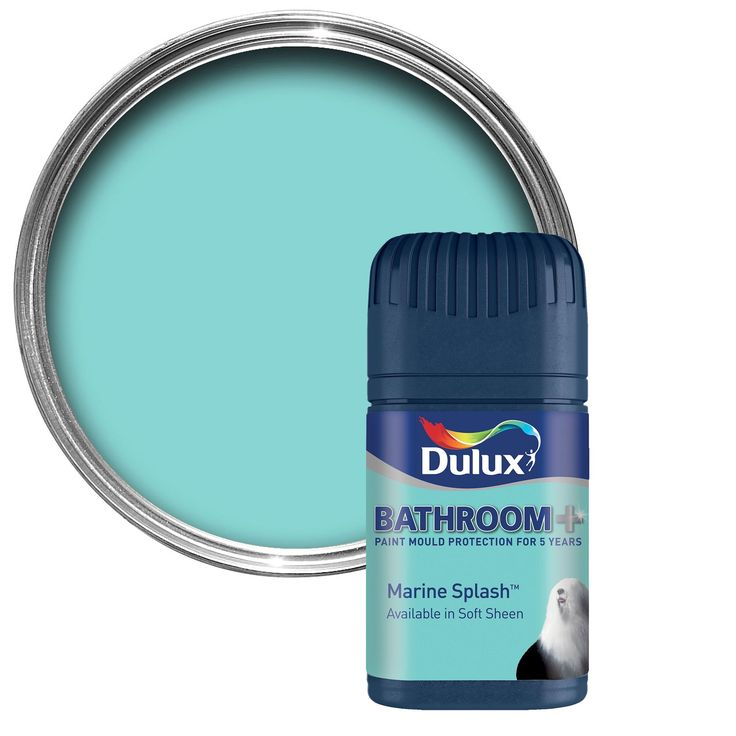 Dulux Bathroom Marine Splash Soft Sheen Emulsion Paint 0 05l Tester Pot