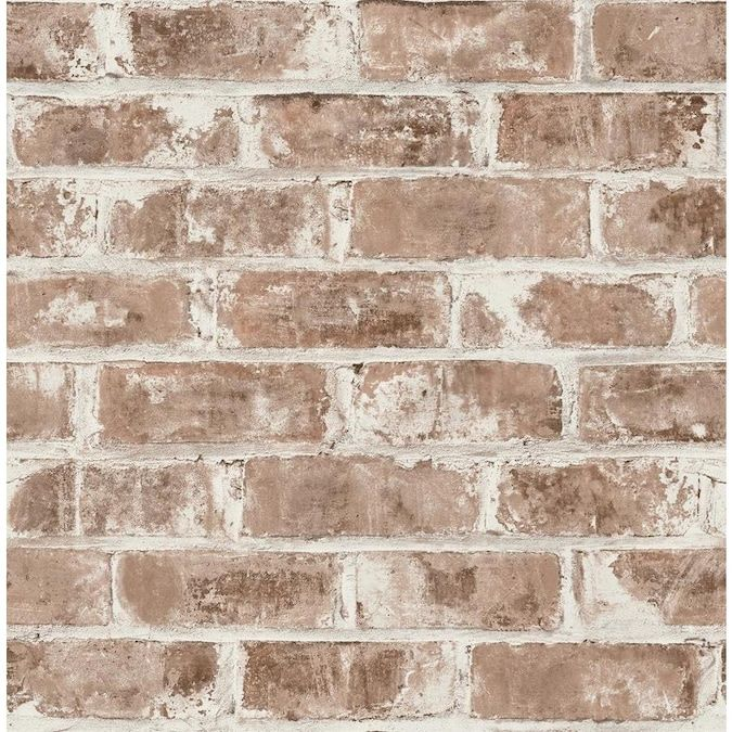 Brewster Urban Walls 56 4 Sq Ft Red Non Woven Brick Unpasted Paste The Wall Wallpaper Lowes Com In 2021 Brick Wallpaper Brewster Wallcovering Faux Brick
