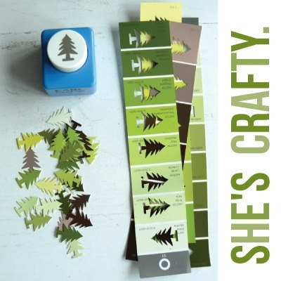 paint chip tree punch (garland?) | deluxemodern design, all washi tape