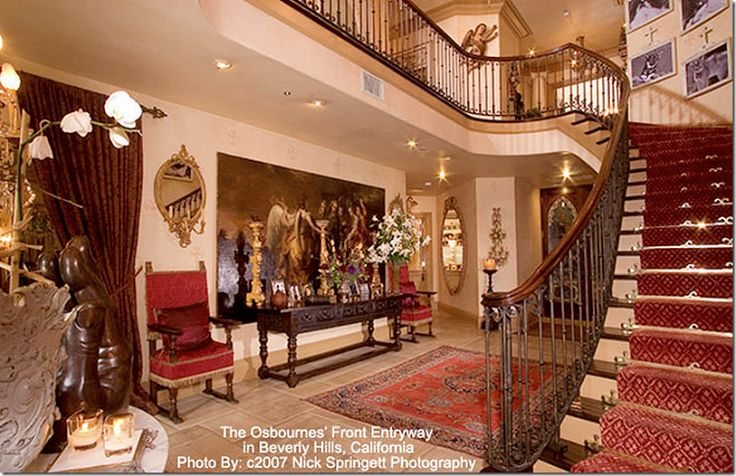 Foyer Interior Pune : The osbournes house from their reality show front hall