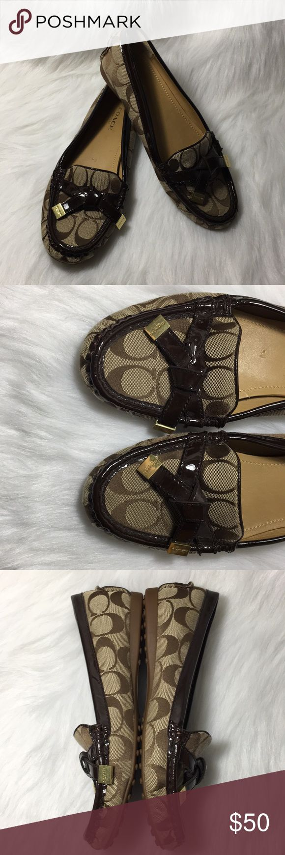 Coach flats Brown coach flats. Gently used. Few scratches on right shoe inside. Feel free to make me an offer! Coach Shoes Flats & Loafers