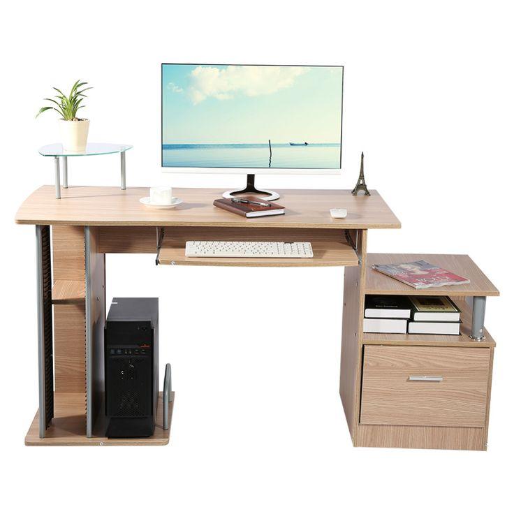 Mesa Do Computador em casa Mesa de Escritório Computador Estação de Trabalho Secretária Com Rack de Armazenamento de Desktop Moderno Mobiliário Mesa de Estudo