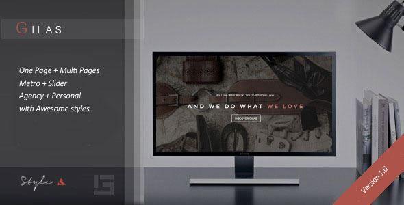 ThemeForest - Gilas - Creative Portfolio WordPress Theme  Free Download