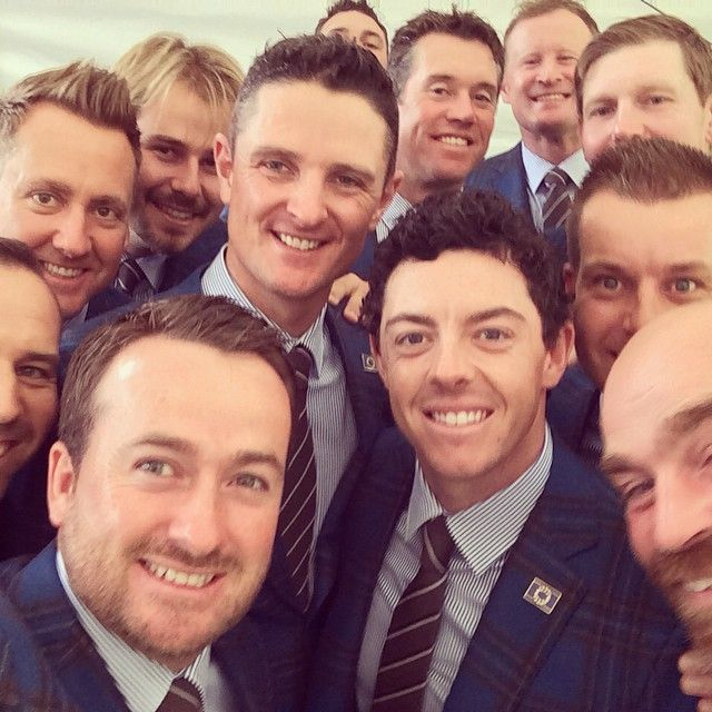 European Ryder cup team selfie. From Rory's insta