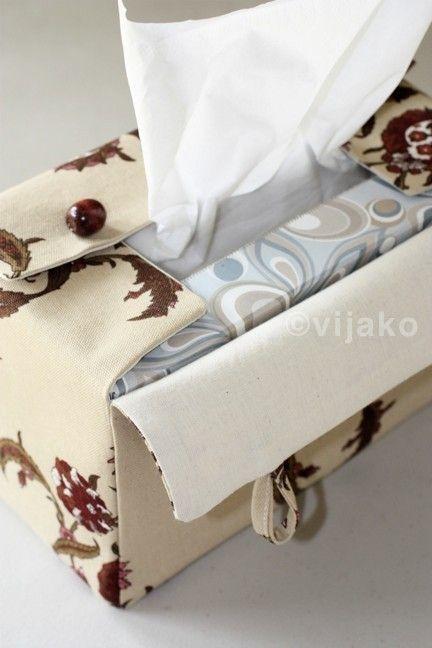 Damask floral rectangular tissue box cover by vijako on Etsy. $25.00 USD, via Etsy.