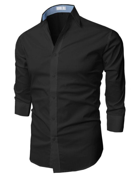Amazon.com: H2H Men's Wrinkle Free Slim Fit Dress Shirts: Clothing