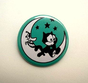 Felix the cat  button badge or magnet 1.5 Inch by PKPaperKitty