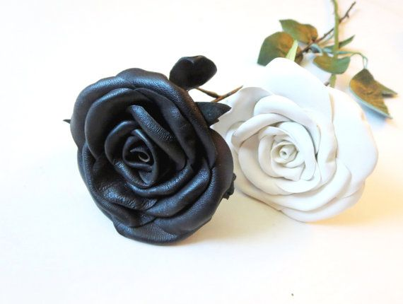 sexy  Leather Roses  red rose  black magic rose by NYLeatherRose