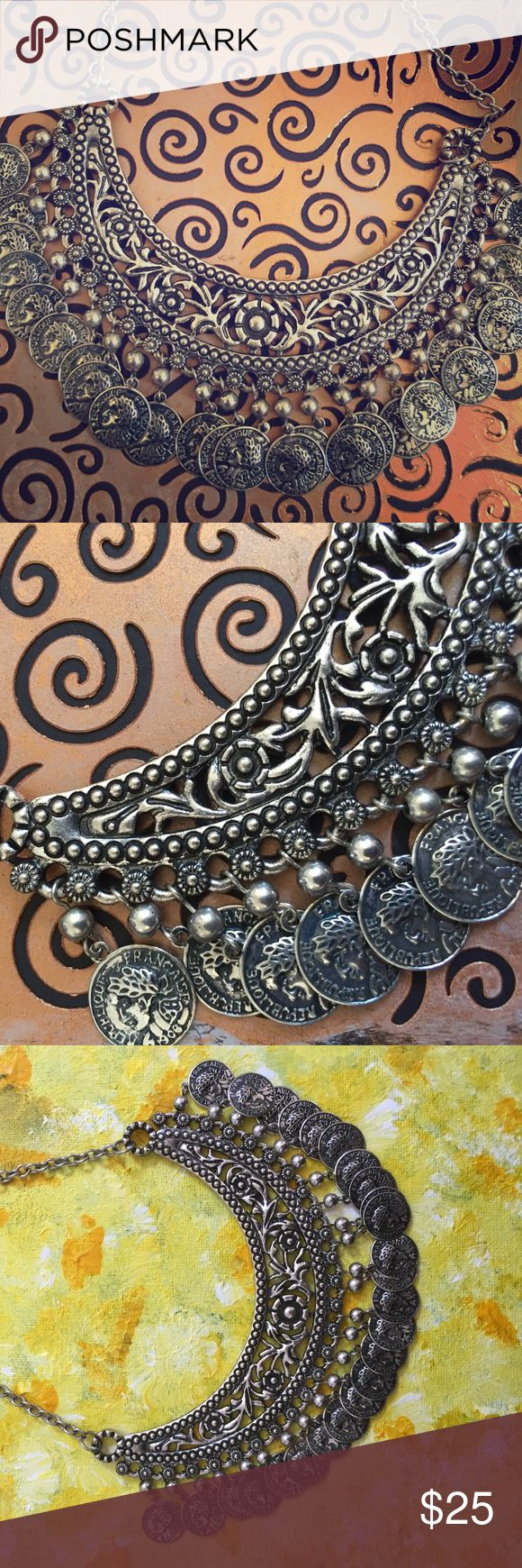 Antique Moroccan Coin Necklace Antique Moroccan Coin Necklace Jewelry Necklaces