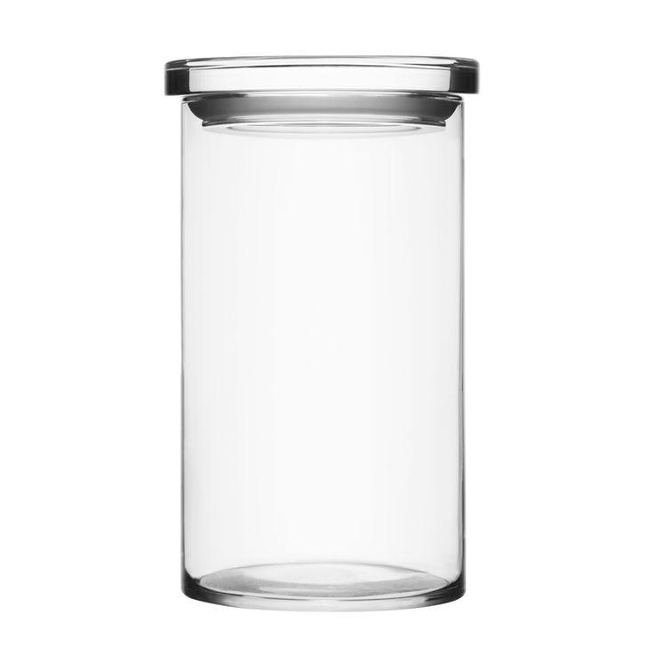 JARS - Mundgeblasen - Auf diese Weise werden Gewürze und andere Kleinigkeiten in der Küche formvollendet und sicher aufbewahrt. Aber auch kleine Gegenstände wie Büroklammern oder Gummibänder lassen sich in dem zeitlos schlichten Behälter ordentlich sammeln - die Verwendungsmöglichkeiten für Jar sind schier unbegrenzt. Je nachdem womit er gefüllt ist, erfindet sich der Glasbehälter immer wieder neu.