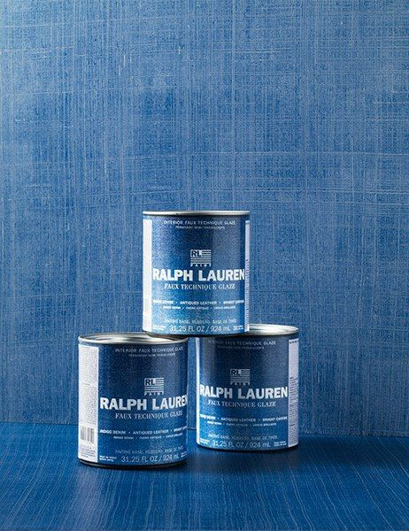 Add character to any room with Ralph Lauren Paint's Faux Technique line of bases and glazes (from $14 per quart). Pictured are Indigo Denim treatments. ralphlaurenpaint.com