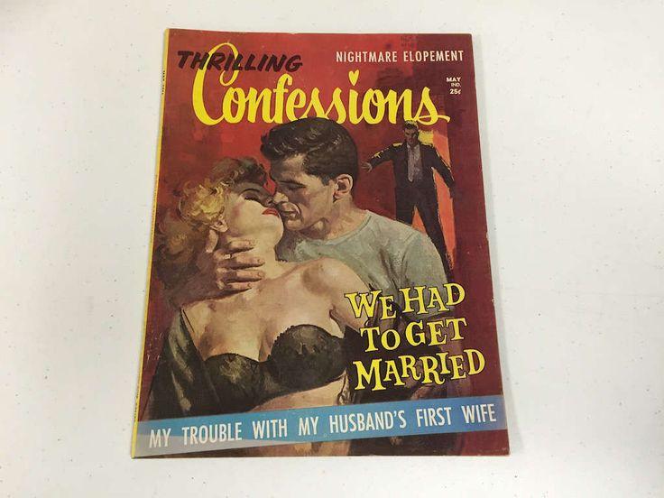 Thrilling Confessions, May 1961, Volume 2 #1 Romance Magazine, Pulp Magazine