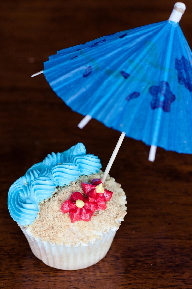 Luau cupcakes I made for friend's daughter's birthday party.