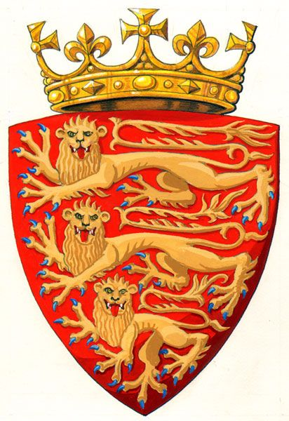 The Royal Arms of England at the time of Edward II