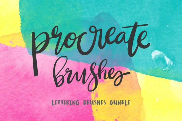 Procreate Lettering 34 Brush Bundle By Mix Fonts Procreate