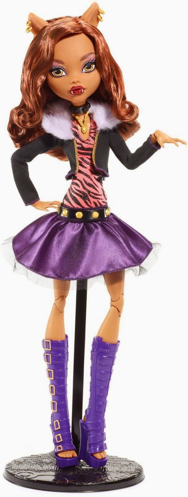 all about monster high clawdeen wolf draculaura and frankie stein frightfully tall ghouls - Clawdeen Wolf Halloween Costume
