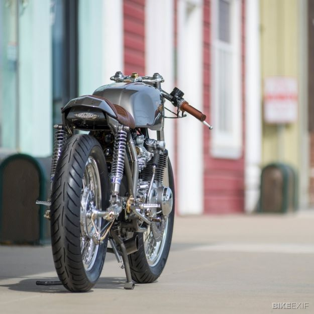California-based Dustin Kott builds exquisite Honda cafe racers. Here's an exclusive look at his latest creation, a sleek and minimal CB550.