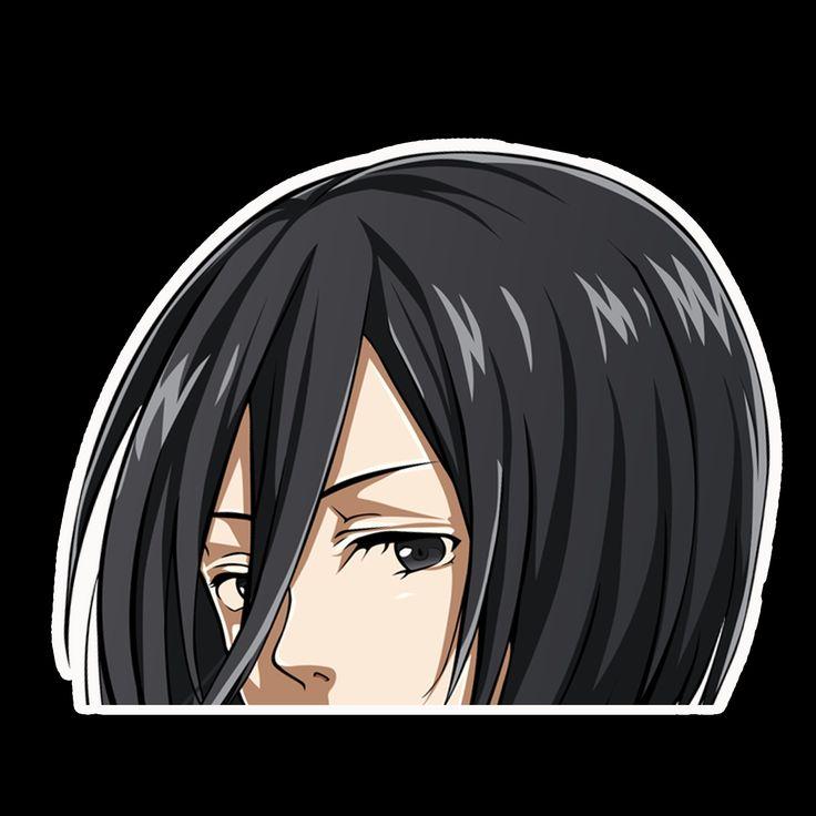 Peeker anime peeking sticker car window decal mks002