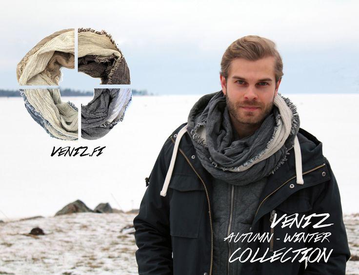 Men scarves by VENIZ www.veniz.fi