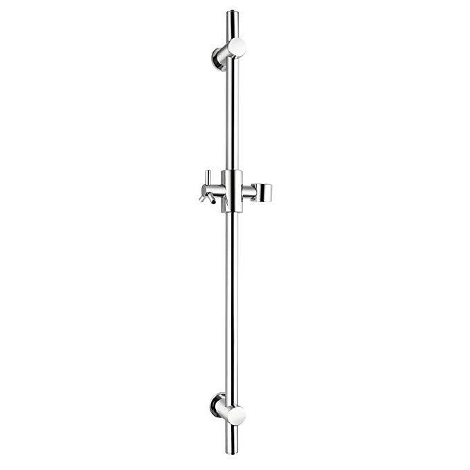 Boen F101 All Brass Slide Bars With Handheld Shower Bracket Height And Angle Adjustable Polished Chrome Review Shower Bracket Slide Bar Polished Steel