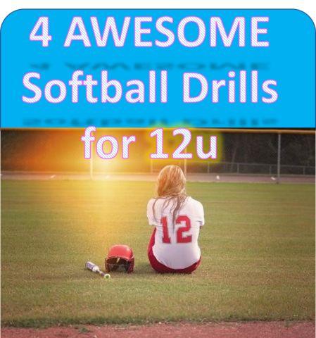 Here are 4 AWESOME softball drills for 12u to keep practice as productive as possible~  #softballdrills #softballdrillsfor12u #12u  #backtobasics #fundamentaldrills #softball #softballheadbands #awesomedrills