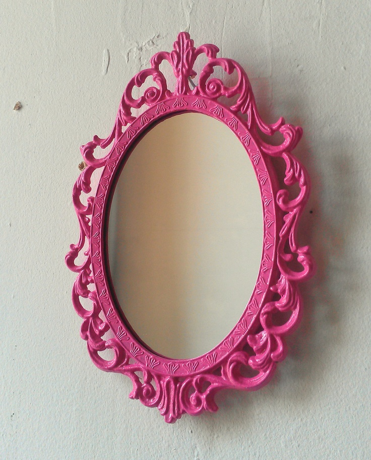 Fairy princess mirror ornate vintage frame in party pink for Mirror 7th girl
