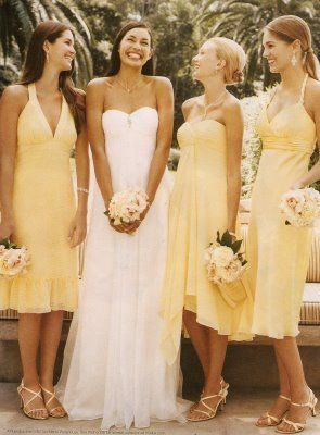 I would have made them wear yellow dresses.