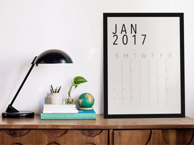 Minimalistic 2017 Calendar printable!!! sign up for freebies at www.shyvibe.com and get this for FREE or click on the site to download for $20!!!