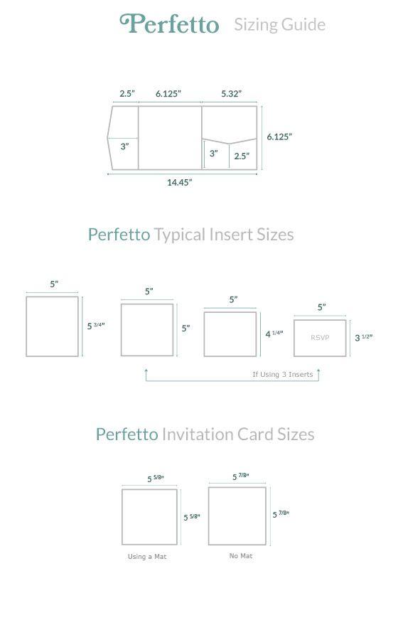 Invitation Size Guide   Perfetto Pocket - Cards & Pockets ...