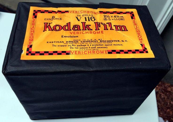 Unopened BRICK of KODAK 116 VERICHROME 1933   LNIB 24 ROLLS - ORIGINAL PACKAGING
