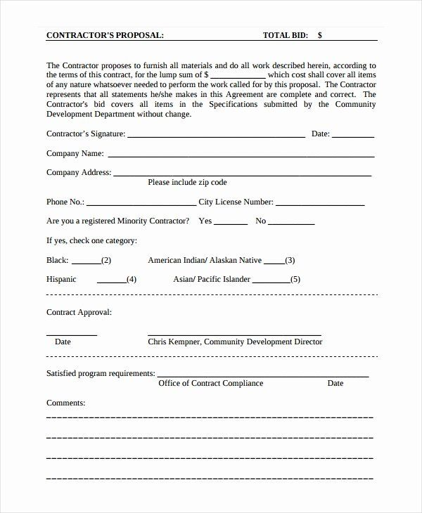 Free Printable Contractor Proposal Forms Awesome So Cold Breaking Benjarmin Web Frompo 1 Peterainswor Proposal Templates Free Word Document Estimate Template