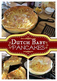 German Pancake Recipe - Dutch Baby Pancakes     whatscookingamerica.net     #german #dutch #baby #pancake #christmas