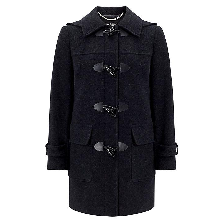 Buy Four Seasons Plain Duffle Coat, Graphite, XS Online at johnlewis.com