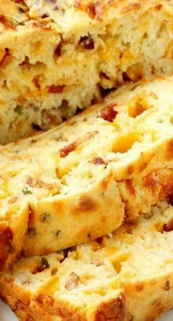 Bacon Jalapeño Cheesy Bread  ~  8-10 slices bacon, (2 c, cooked & crumbled)...3 c. all purpose flour...1 T. baking powder...salt to taste (1 t, recommended)...2 T. granulated sugar...8 oz. cream cheese, softened...1/4 c. diced jalapeno (abt. 1 large) well...2 c. mild cheddar cheese...12 oz. buttermilk...1 T. vegetable oil