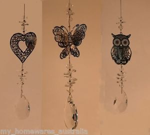 Crystal-Suncatcher-Choose-from-Heart-Butterfly-or-Owl-With-15mm-Pendant #suncatcher