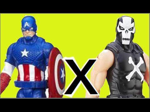 Capitão América Captain America X Ossos Cruzados Crossbones bonecos Brin...