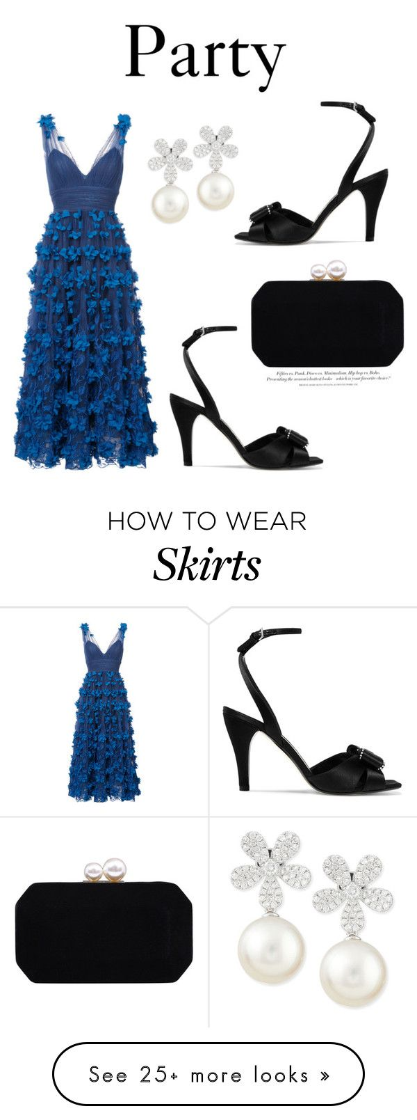 """""""656"""" by meldiana on Polyvore featuring Notte by Marchesa, Loewe, Carvela, Belpearl and H&M"""