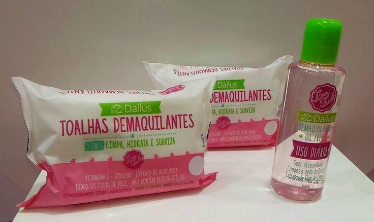 Toalhas Demaquilantes e Demaquilante Oil Free Dailus - Carol Doria