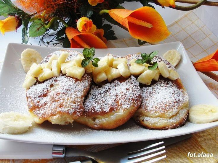 Racuchy z bananami - kulinaria banany,obiad,racuchy - kobiece inspiracje