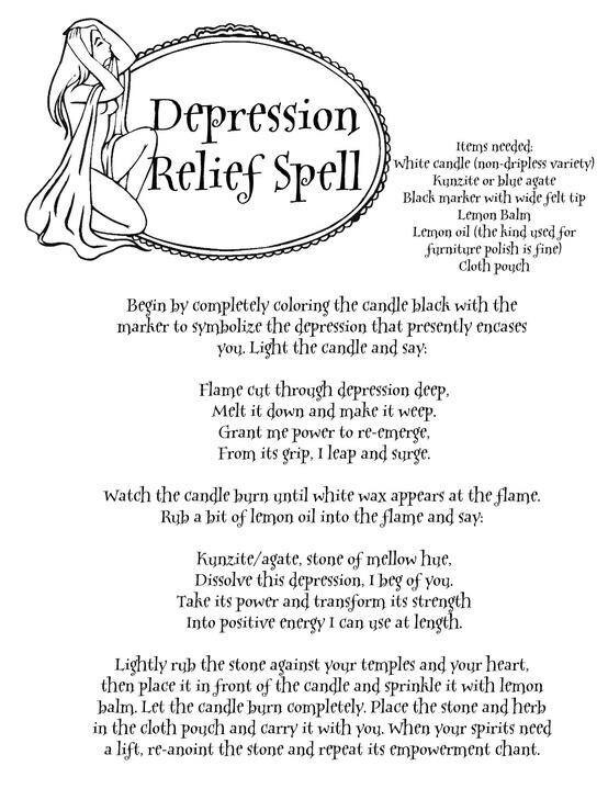 Depression relief spell