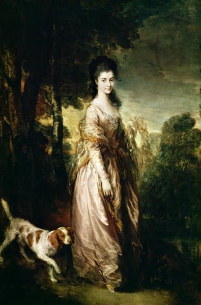 Portrait of Mrs Lowndes Stone Painting by Thomas Gainsborough