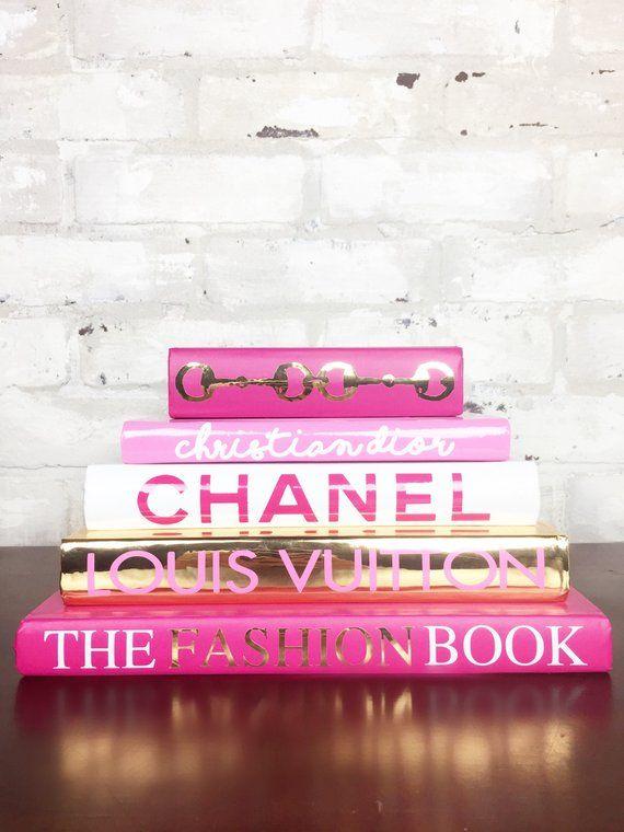 eb33403a14b0 5 BOOK PYRAMID - Pink White Gold or Silver - Designer Book Set ...